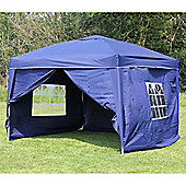 Palm Springs 10' X 10' Pop Up Gazebo Inc Sides Blue