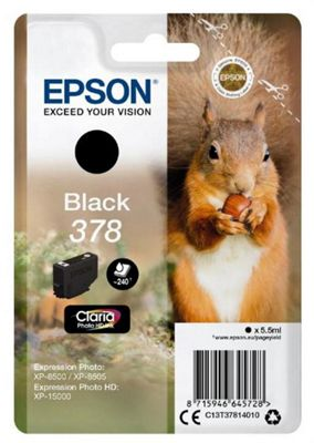 Epson 378 5.5ml 240pages Black ink cartridge 240 pages