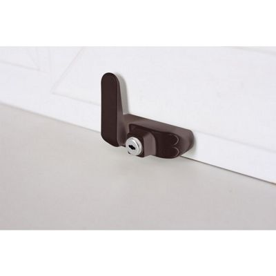 BSL Sash Window Restrictor With Key - Brown