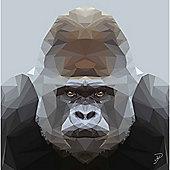 Birthday, Anniversary Greetings Card - Gorilla Animal Design - Blank
