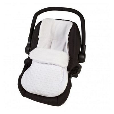 Cuddles Collection Car Seat Footmuff (Dimple White)