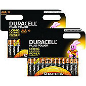 Duracell Plus Power 2 X MN2400B12 Alkaline 1.2V non-rechargeable battery