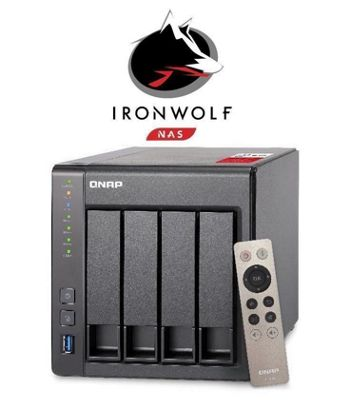 QNAP TS-451+-8G/40TB-IW 4-bay 40TB(4x10TB Seagate IronWolf) High-performance Intel quad-core NAS