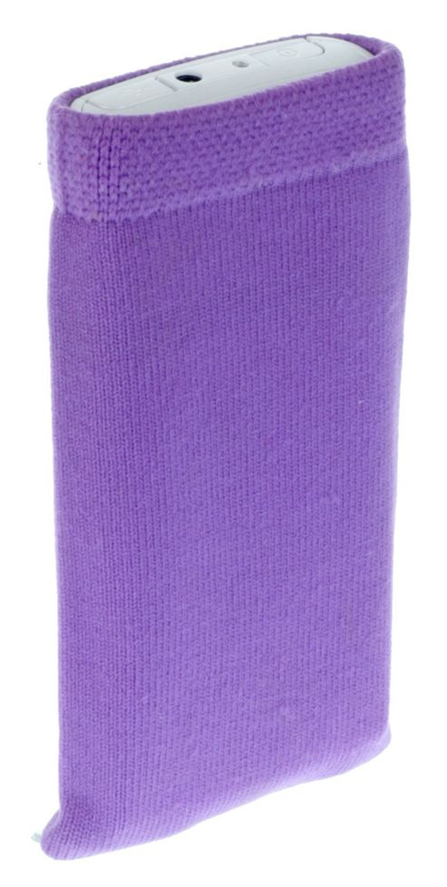Works With Nokia Fabric Sock for Universal Medium Smartphone Devices - Purple