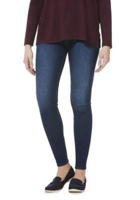 F&F Contour High Rise Skinny Jeans with LYCRA® BEAUTY Indigo 6 Regular leg