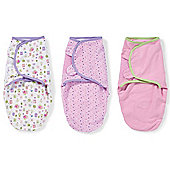 Summer Infant Small SwaddleMe Cotton 3 Pack - Who Loves You/Multi Dot/Pink