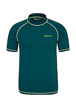 Mountain Warehouse Mens Rash Vest UPF50+ Sun Protection Factor 50+ Treatment - Green