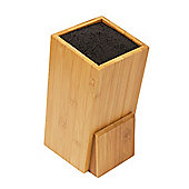 Woodluv Bamboo Universal Kitchen Knife Stand-Square