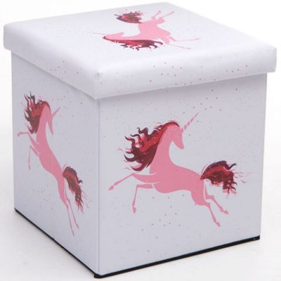 Pink Unicorn Storage Box and Seat