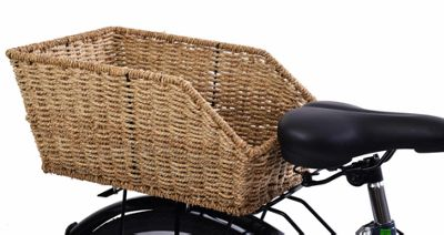 Ammaco Beautiful Wicker Style Rear Bike Basket