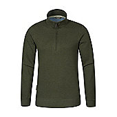 Mountain Warehouse Journey Mens Zip-Neck Top - Green