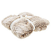 Tesco Light Natural Faux Fur Throw