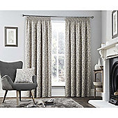 Curtina Valda Graphite Pencil Pleat Curtains - 90x90 Inches (229x229cm)