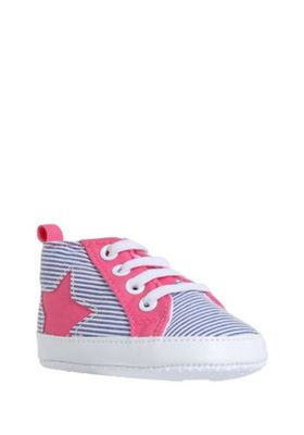F&F Striped and Star High Top Trainers Multi 0-3 months