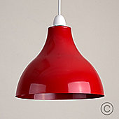 Dexter Industrial Style Ceiling Pendant Light Shade, Red