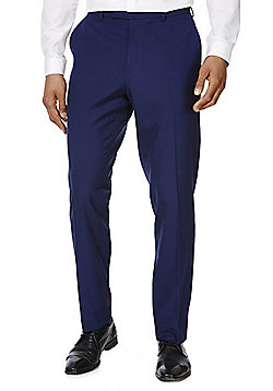 F&F Slim Fit Suit Trousers - Cobalt