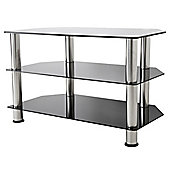 AVF Universal Black and Chrome TV Stand For up to 40 inch TVs