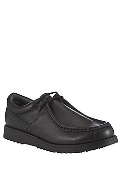F&F Wide Fit Leather School Shoes - Black