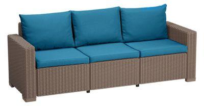 Gardenista Replacement 6 Piece Seat Pad Set for Keter Allibert California 3 Seater Sofa - Turquoise