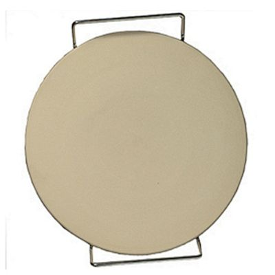 Round Ceramic Pizza Stone With Rack 15 inches