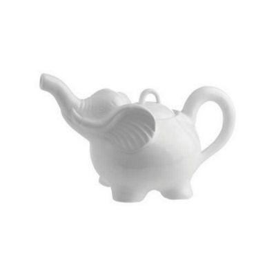 La Porcellana Bianca White Porcelain Elefanti Elephant Teapot P002200012