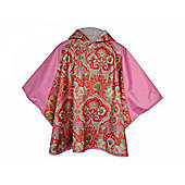 Agu Oilily Kids Waterproof Poncho Cape Girls Pink 5-6 Years
