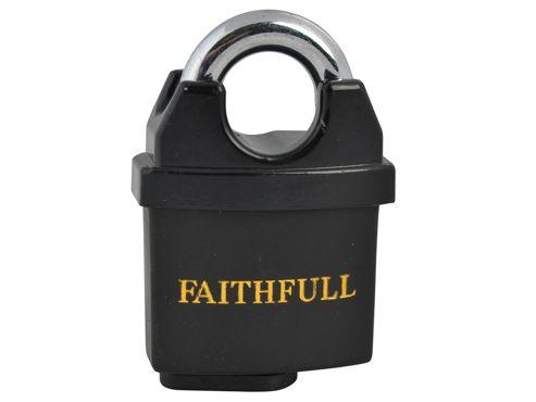 Faithfull PVC Coated Brass Padlock 50mm