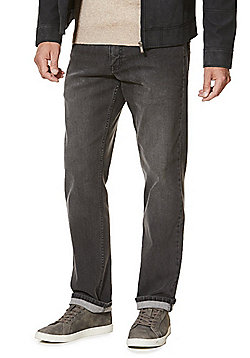 F&F Washed Straight Leg Jeans - Washed grey