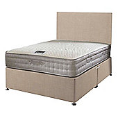 Happy Beds Bamboo Vitality 2000 Mattress Divan Bed Set Plain Headboard Cream