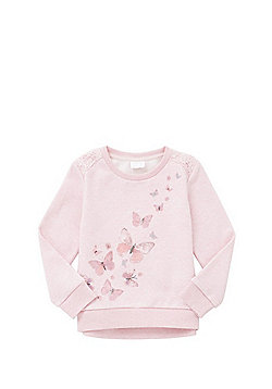 F&F Butterfly Embroidered Sweatshirt - Pink