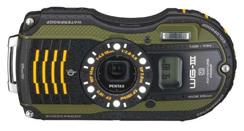 Pentax Optio WG-3 GPS Camera Green 16MP 4xZoom 3.0LCD Wtprf