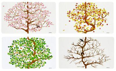Puhlmann 4 Seasons Placemats Set of 4