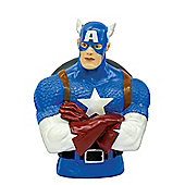 Captain America Marvel Comics Plastic Bust Bank - Toys/Games