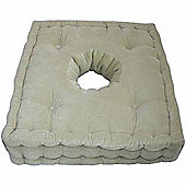 Homescapes Cotton Comfort Armchair Booster Cushion Sage Green