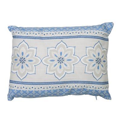 Dreams n Drapes Shantar China Blue Cushion Cover - 28x38cm