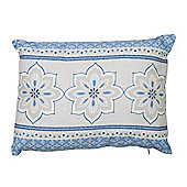 Dreams n Drapes Shantar China Blue Cushion Cover - 28x38cm