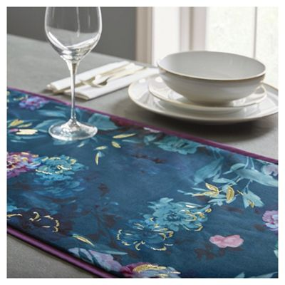 buy fox and ivy teal jardin runner from our fox ivy. Black Bedroom Furniture Sets. Home Design Ideas