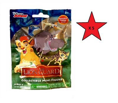The Lion Guard Collectible Mini Figure Blind Bag Series 4 - 5 Bags Supplied