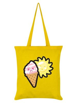 Sunshine & Ice Cream Tote Bag 38x42cm Yellow