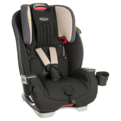 Graco Milestone All-In-One High Back Booster Car Seat with harness, Group 0+/1/2/3 – Aluminium
