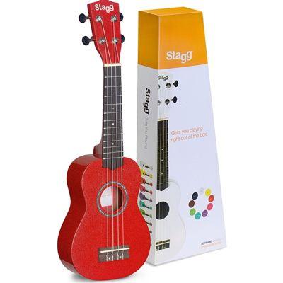 Stagg Soprano ukulele Basswood Top in Nylon Gigbag - Re