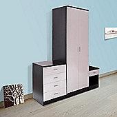 homcom high gloss bedroom furniture set wardrobe chest bedside - Tesco Bedroom Furniture