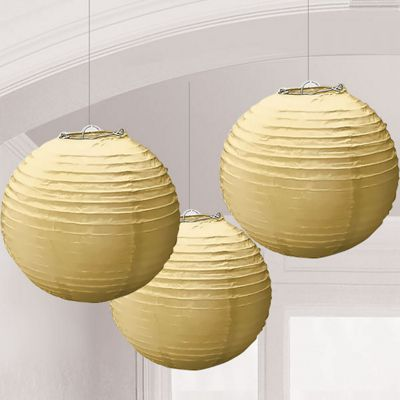 Discontinued - Gold Paper Lanterns - 24cm