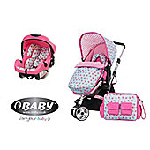 Obaby Chase with Mosquito Net 2 In 1 Travel System - Cottage Rose