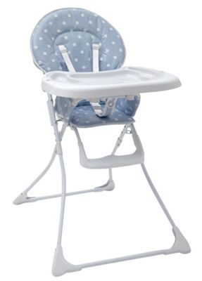 Tippitoes Dotti Highchair in Blue and White