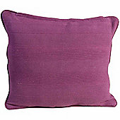 Homescapes Cotton Rajput Ribbed Purple Cushion, 45 x 45 cm