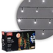 200 LED Cool White Battery Timer Christmas Lights
