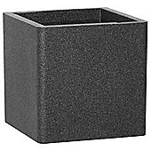 iQbana 39cm Black Square Garden Planter