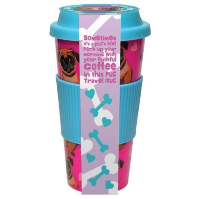 Pug Coffee Travel Mug