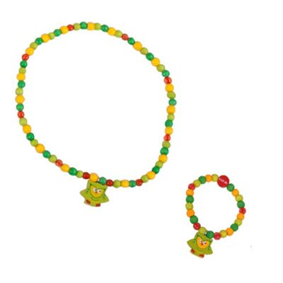 Tatiri Owl Bracelet and Necklace (Green Owl)